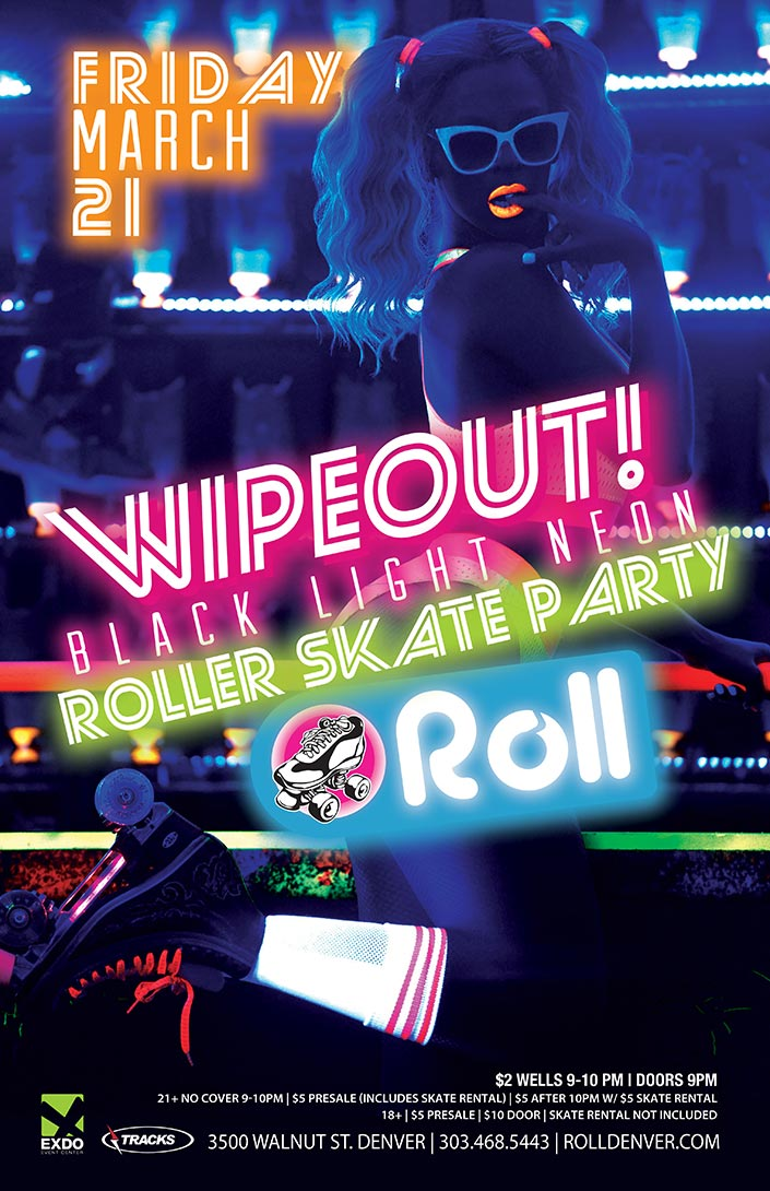 Roll - Wipeout! Neon Blacklight Skate